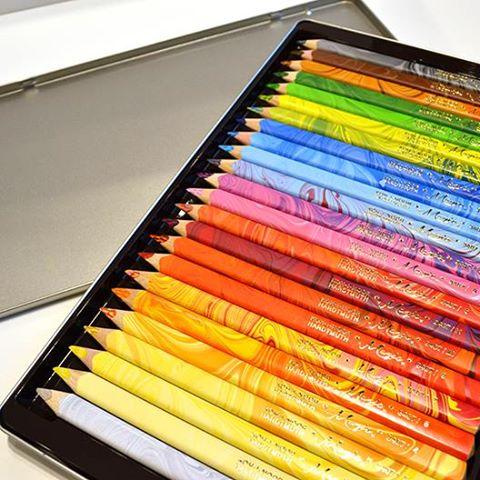 コヒノール 太軸マーブル色鉛筆23色+1